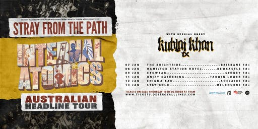 Stray From The Path 'Internal Atomics'  Aus Tour - Brisbane