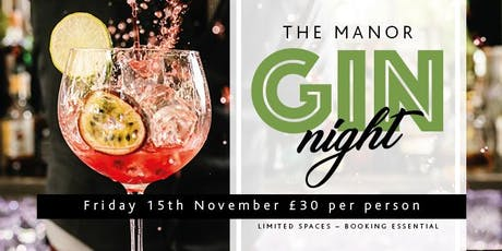 The Manor Gin Tasting Night tickets