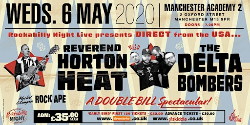 Reverend Horton Heat + Delta Bombers & Support from The Deadshots