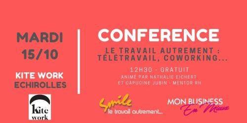 Conférence RH : Télétravail, flexitravail et coworking