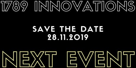 1789 Innovations Event #5  //  SAVE THE DATE Tickets