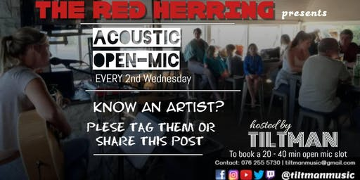 Acoustic Open Mic at Red Herring (Upstairs bar)