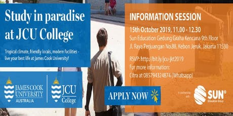 Study In Paradise At JCU College Information Session tickets