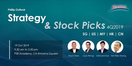 Strategy & Stock Picks 4Q2019 tickets