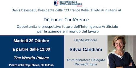 Déjeuner Conférence con Silvia Candiani, AD Microsoft Italia biglietti