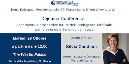 Déjeuner Conférence con Silvia Candiani, AD Microsoft Italia