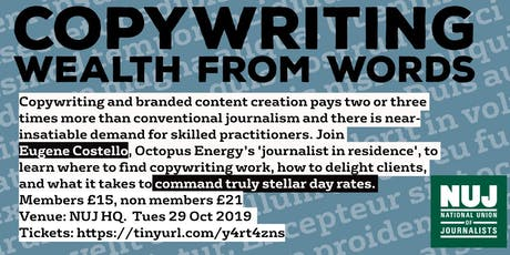 Copywriting – wealth from words tickets