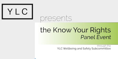 YLC Know Your Rights Panel Event 2019 tickets