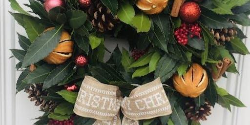 CHRISTMAS WREATH WORKSHOP 4th December 7-9pm