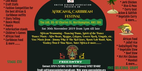 African and Caribbean Festival: Stallholders booking form tickets