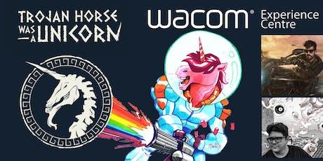 """Compartiendo experiencias """"Trojan Horse was a Unicorn"""" en el Wacom Experience Centre entradas"""