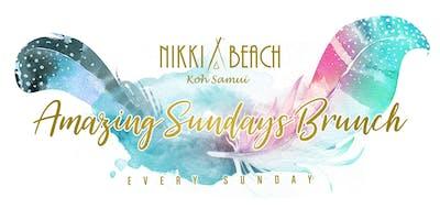 NIKKI BEACH KOH SAMUI: AMAZING SUNDAYS BRUNCH, JANUARY 5th, 2019