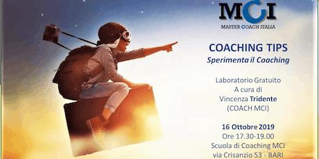 COACHING TIPS - Sperimenta il Coaching biglietti