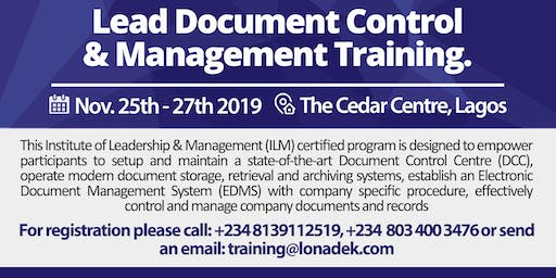 Lead Document Control and Management Training