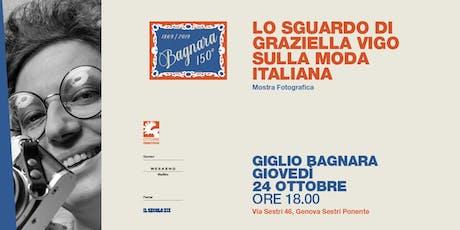 Lo sguardo di Graziella Vigo sulla moda italiana - inaugurazione biglietti