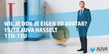 Gratis 3D scan voor je eigen Avatar - 19/10 Auva Hasselt tickets