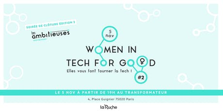 Women in Tech for Good #2 : Elles vous font tourner la tech ! billets