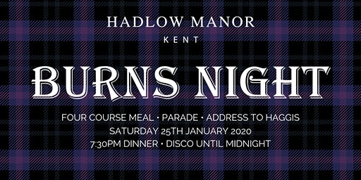 Burns Night | Hadlow Manor