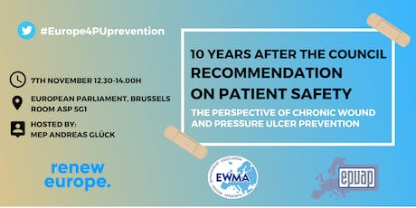 EWMA & EPUAP Roundtable debate on patient safety and wound care in Europe tickets