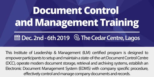Document Control & Management (ILM UK Certified)