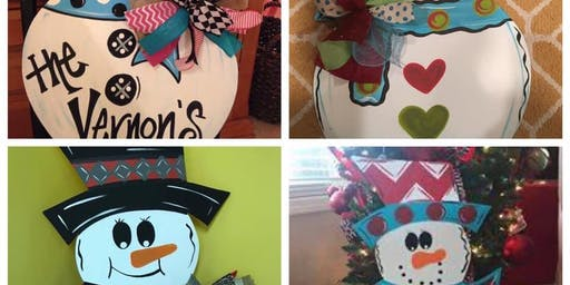Snowman Door Hanger Workshop