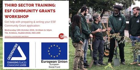 Third Sector Training:  ESF Community Grants Workshop tickets