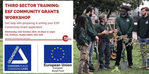 Third Sector Training:  ESF Community Grants Workshop