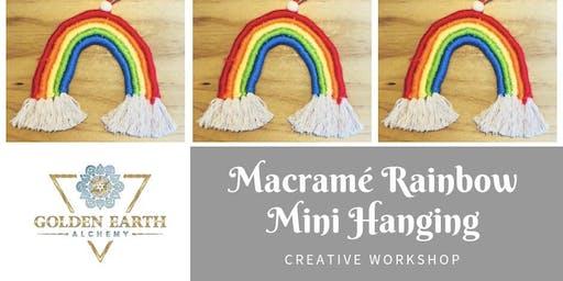 Macramé Rainbow Mini Hanging