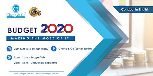 JB Budget Talk 2020 & Deductible Expense (English)