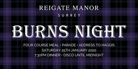 Burns Night | Reigate Manor tickets