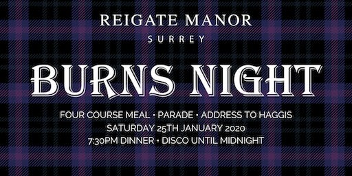 Burns Night | Reigate Manor