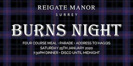 Burns Night | Reigate Manor