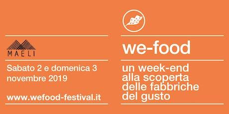 We-Food 2019 @ Maeli biglietti