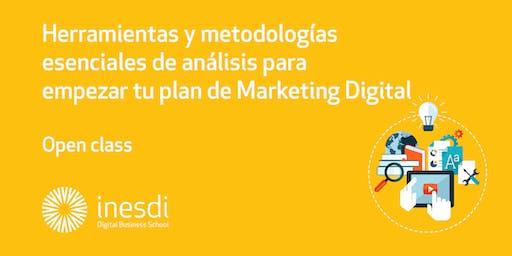 Herramientas y metodologías esenciales de análisis para empezar tu plan de Marketing Digital