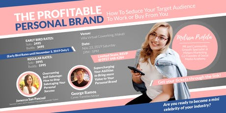 The Profitable Personal Brand  tickets