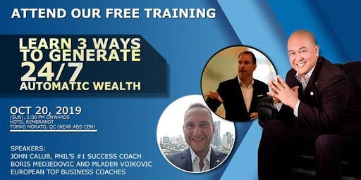 "EARN 3 WAYS TO GENERATE AUTOMATIC WEALTH ""How Cashback Technology Can Give You Financial Freedom"""