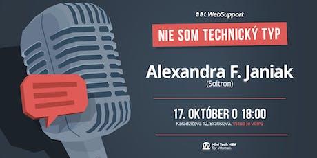 Ľudskosť a komunikácia v lT projektoch (Alexandra F. Janiak, Soitron) tickets