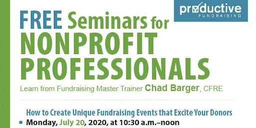 How to Create Unique Fundraising Events that Excite Donors [free workshop]