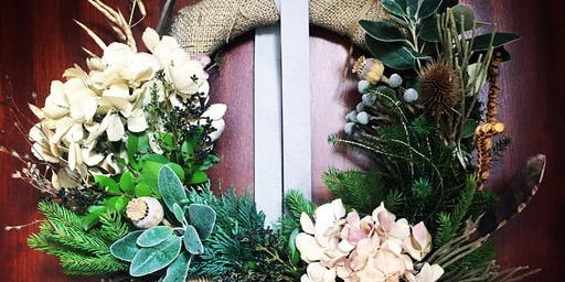 Contemporary Winter Wreath