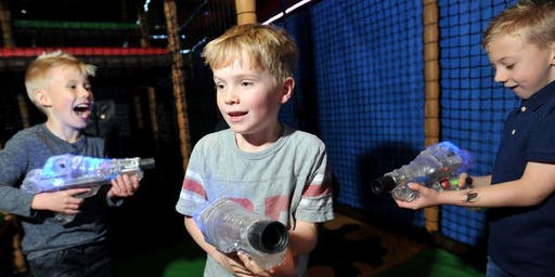Laser Tag game (6 to 10 year olds - boys and girls)