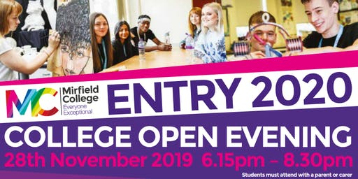 Mirfield College Open Evening