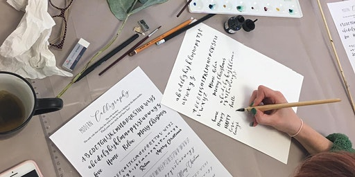 Christmas Crafts with Modern Calligraphy- Place Cards and Gift Tags