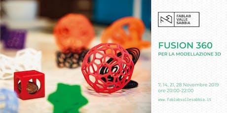 Fusion 360 per la modellazione 3D biglietti