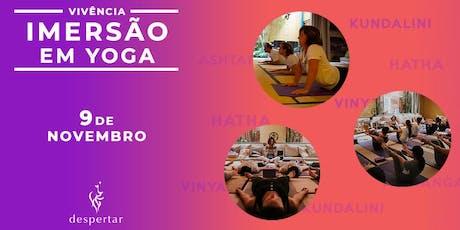 Vivência de Imersão em Yoga -  Uma jornada de autoconhecimento e expansão da consciênciaingressos