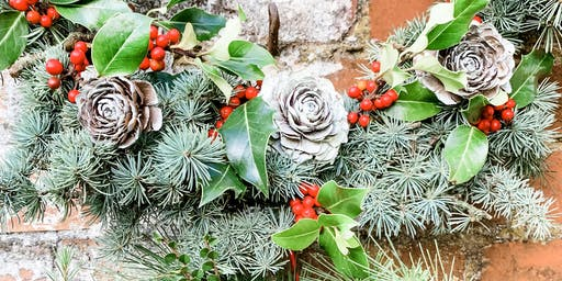 All-Natural 100% Locally Sourced Sustainable Eco Xmas Wreath Workshop