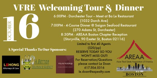 VFRE Welcoming Tour & Dinner