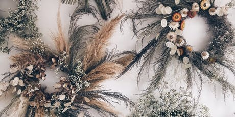 A dried flower workshop; wreath making tickets