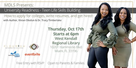 COLLEGE READINESS   TEEN LIFE SKILLS BUILDING tickets