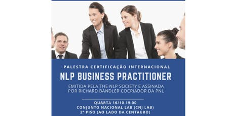 Palestra Certificação Internacional NLP Business Practitioner ingressos