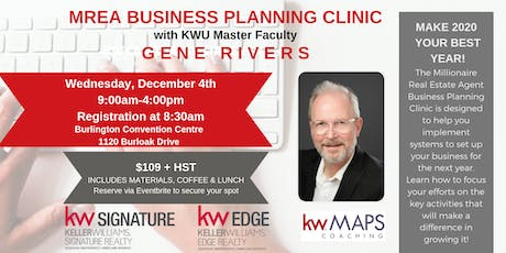 MREA Business Planning Clinic with Gene Rivers tickets